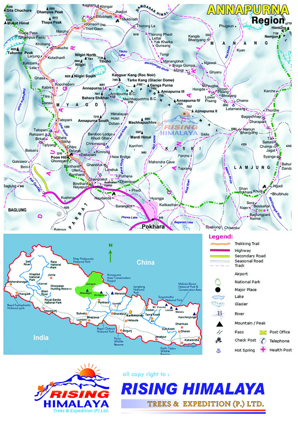 anapurna map